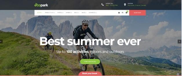 Ecopark - 36+ Nice Tour & Travel Business WordPress Themes [year]