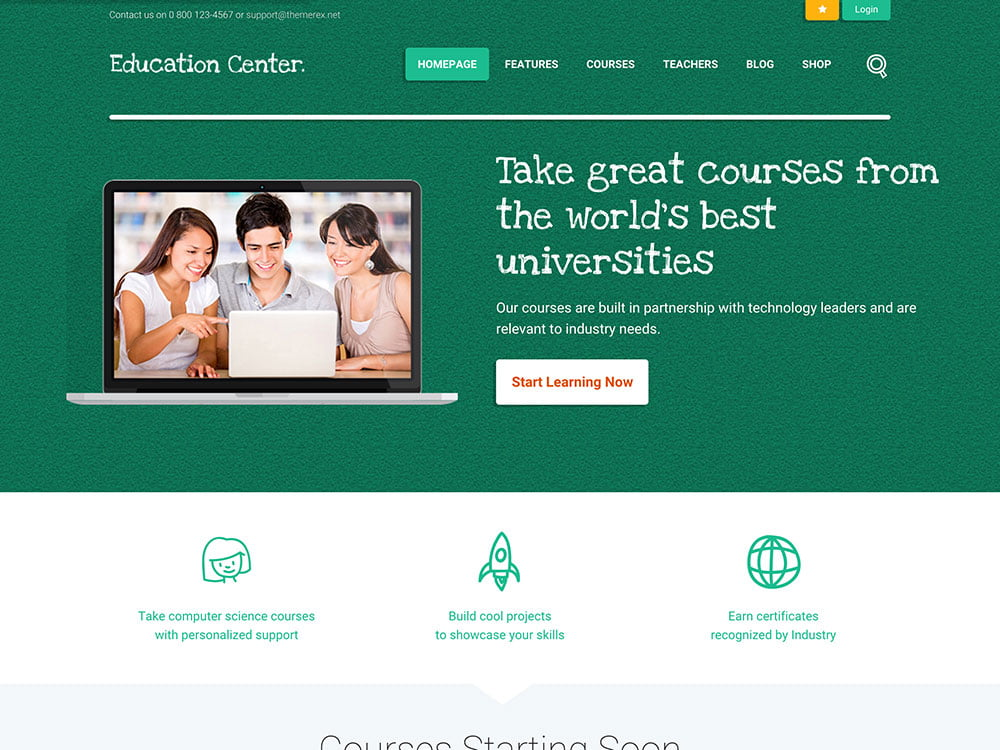 Education-Center - 51+ Top Best WordPress Themes For Education [year]