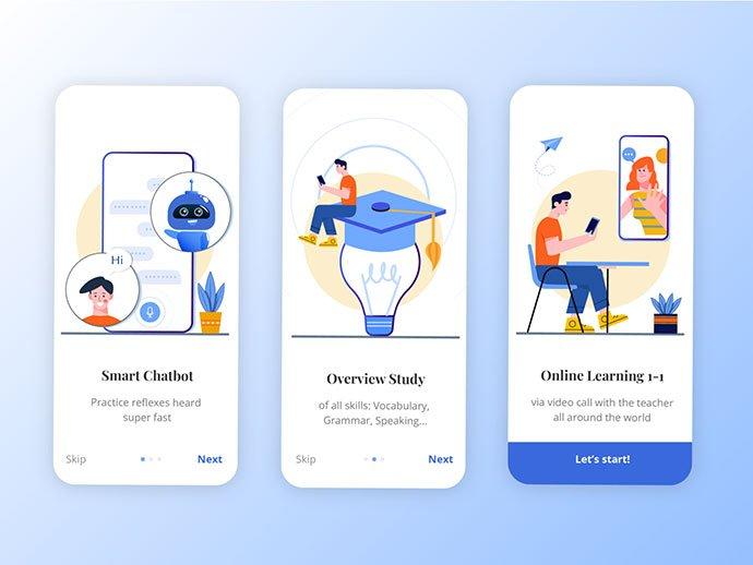Education-Onboarding-UI - 51+ Best Free Onboarding UI Mobile App Sample [year]