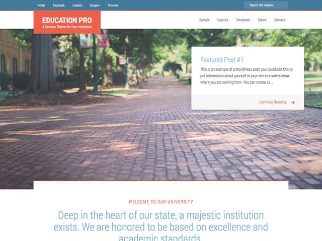 Education-Pro - 51+ Top Best WordPress Themes For Education [year]