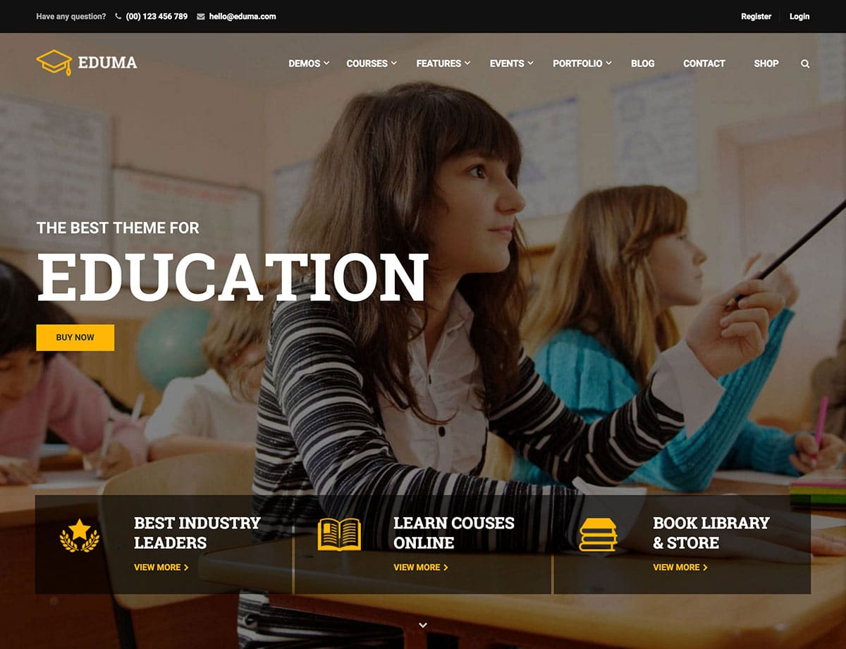 Education-WP - 51+ Top Best WordPress Themes For Education [year]