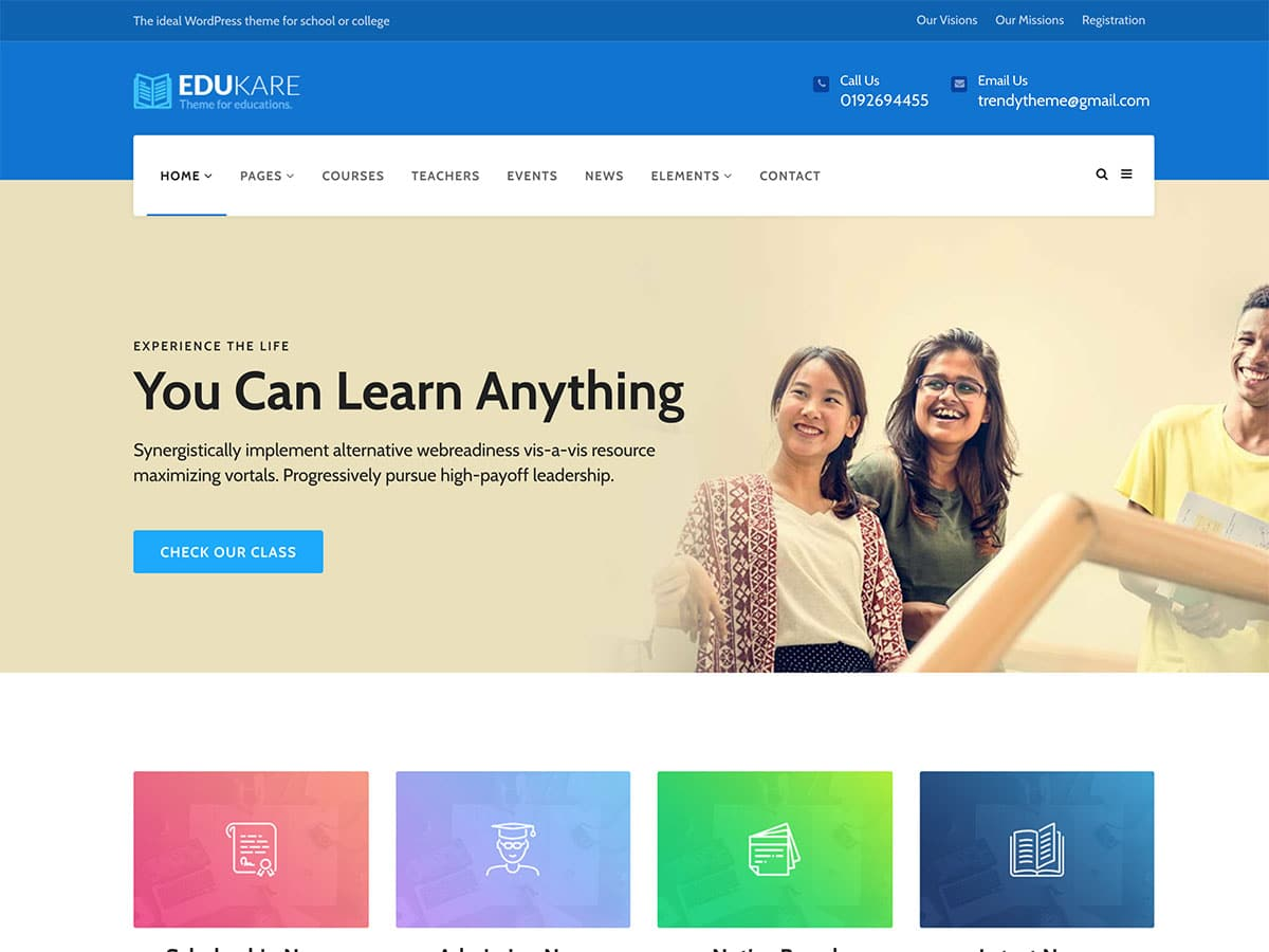 Edukare - 51+ Top Best WordPress Themes For Education [year]