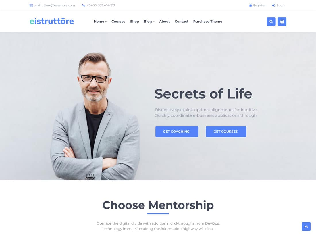 Eistruttore - 36+ Inspiring Best Coaching WordPress Themes [year]