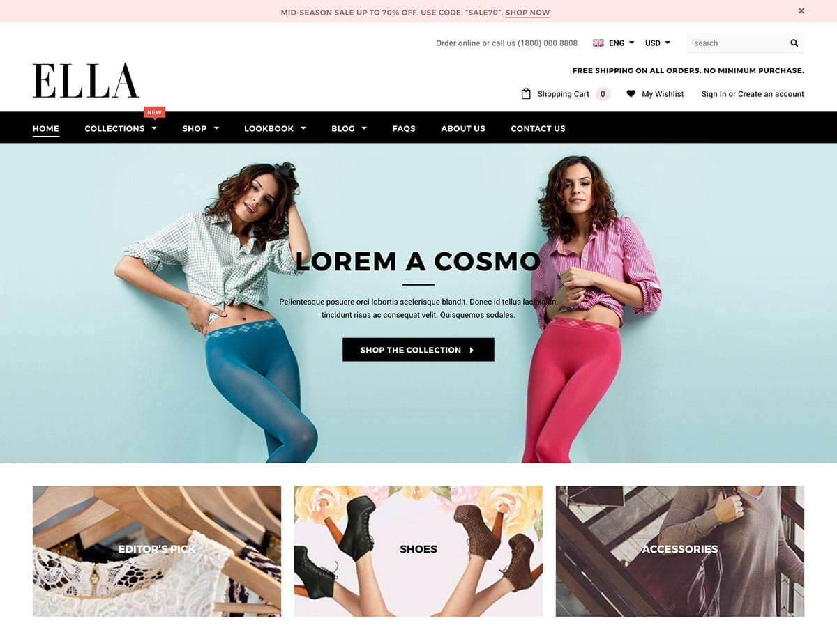 Ella - 41+ Awesome Shopify Themes For Your Business [year]