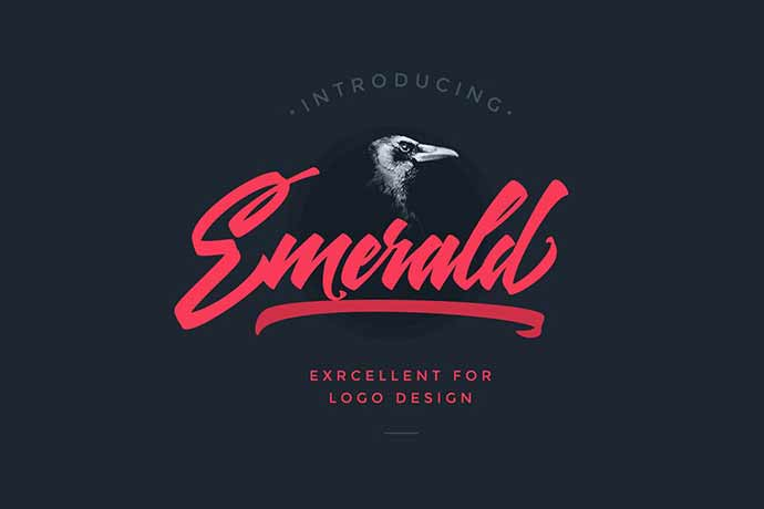 Emerald-Script-Font - 41+ Important Logo Design Fonts For Graphic Designer [year]