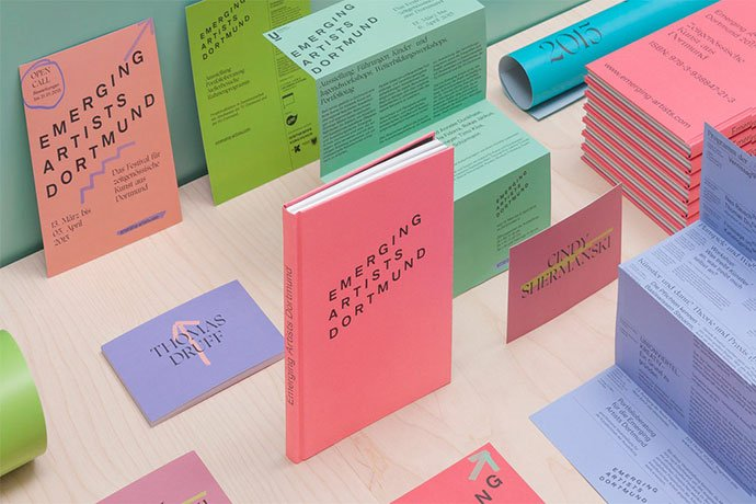 Emerging-Artists-Dortmund - 63+ Surprising Typography In Magazine & Book Designs [year]
