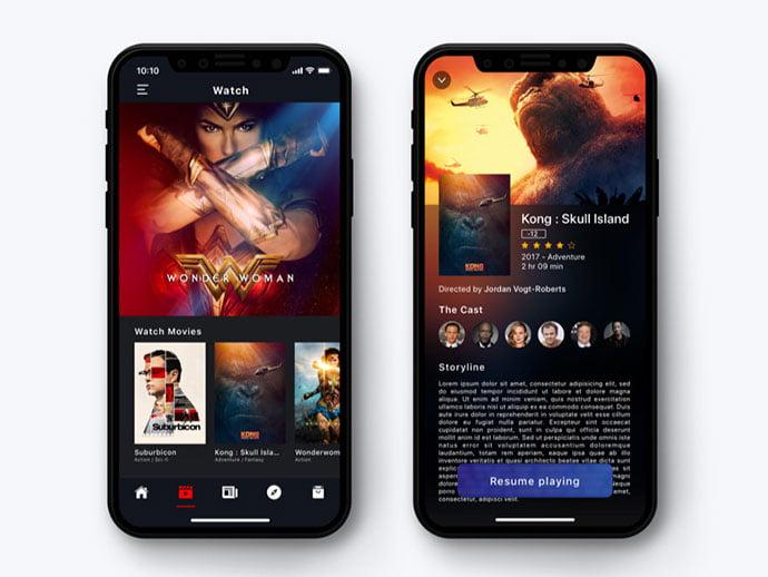 Entertainment-App - 63+ Amazing Film & TV App UI Design Sample [year]