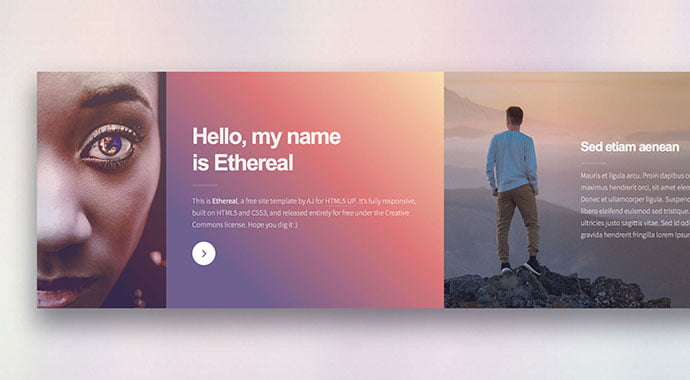 Ethereal - 65+ Amazing Free CSS HTML5 Website Design Templates [year]