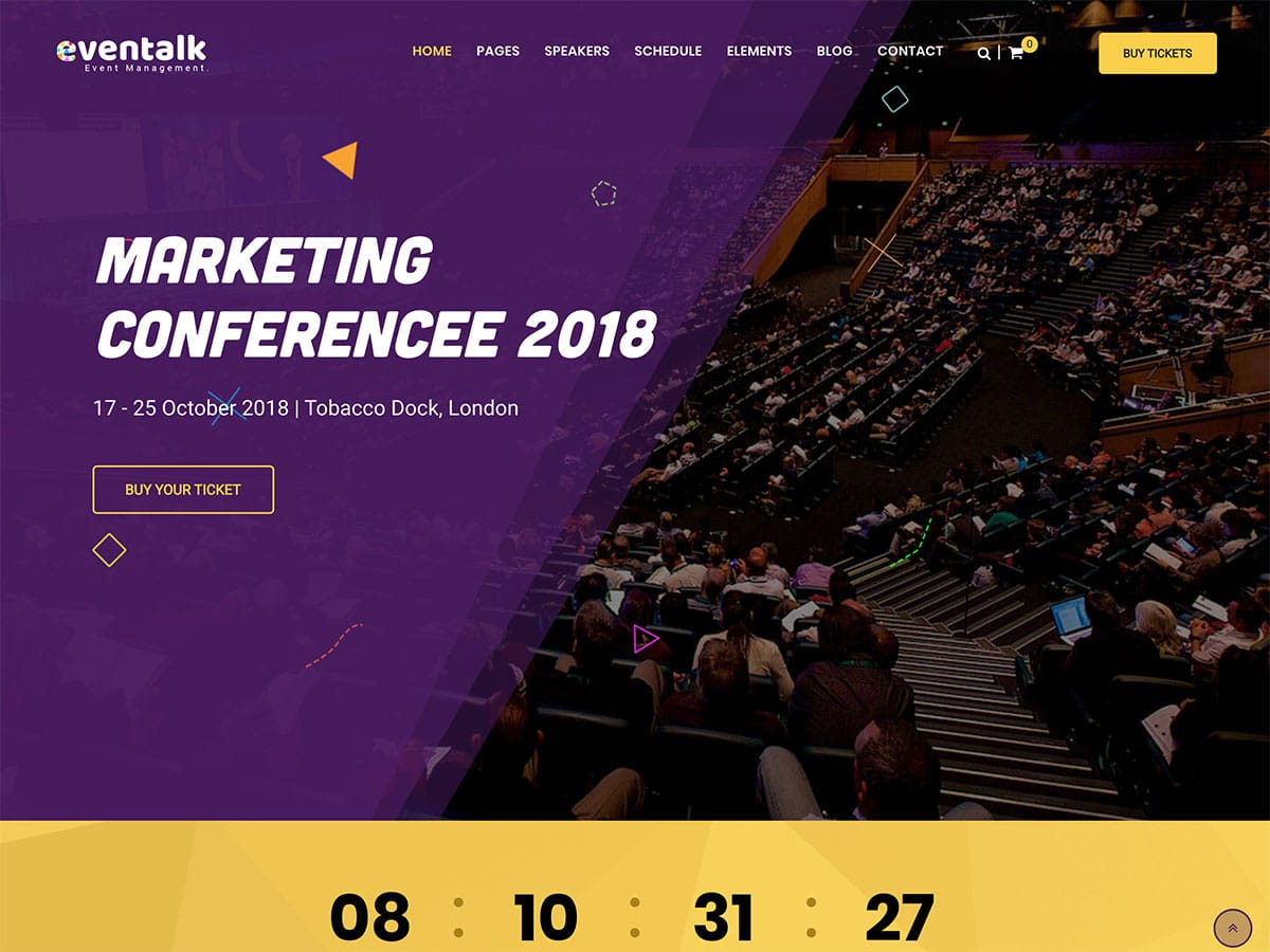 EvenTalk - 41+ Top Awesome WordPress Themes For Events [year]