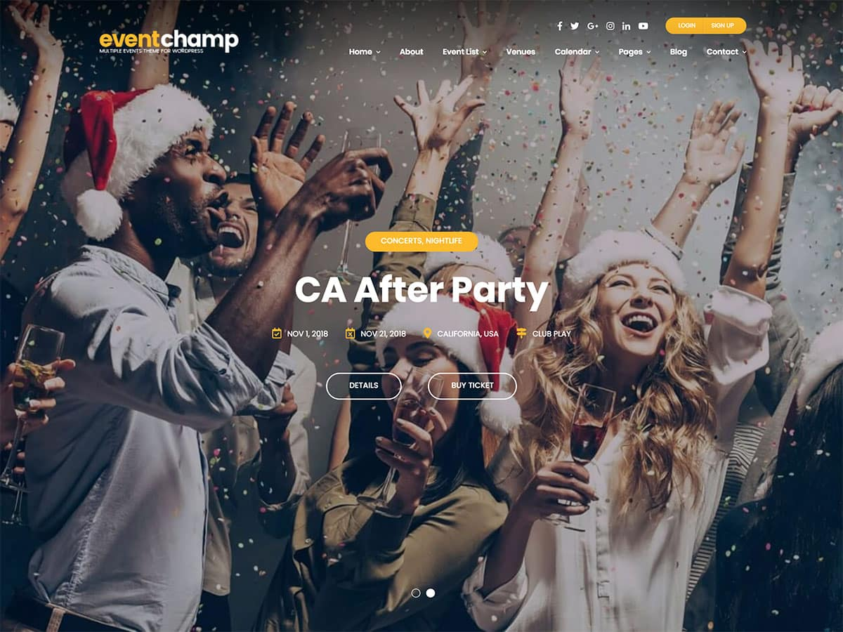 Event-Champ - 41+ Top Awesome WordPress Themes For Events [year]