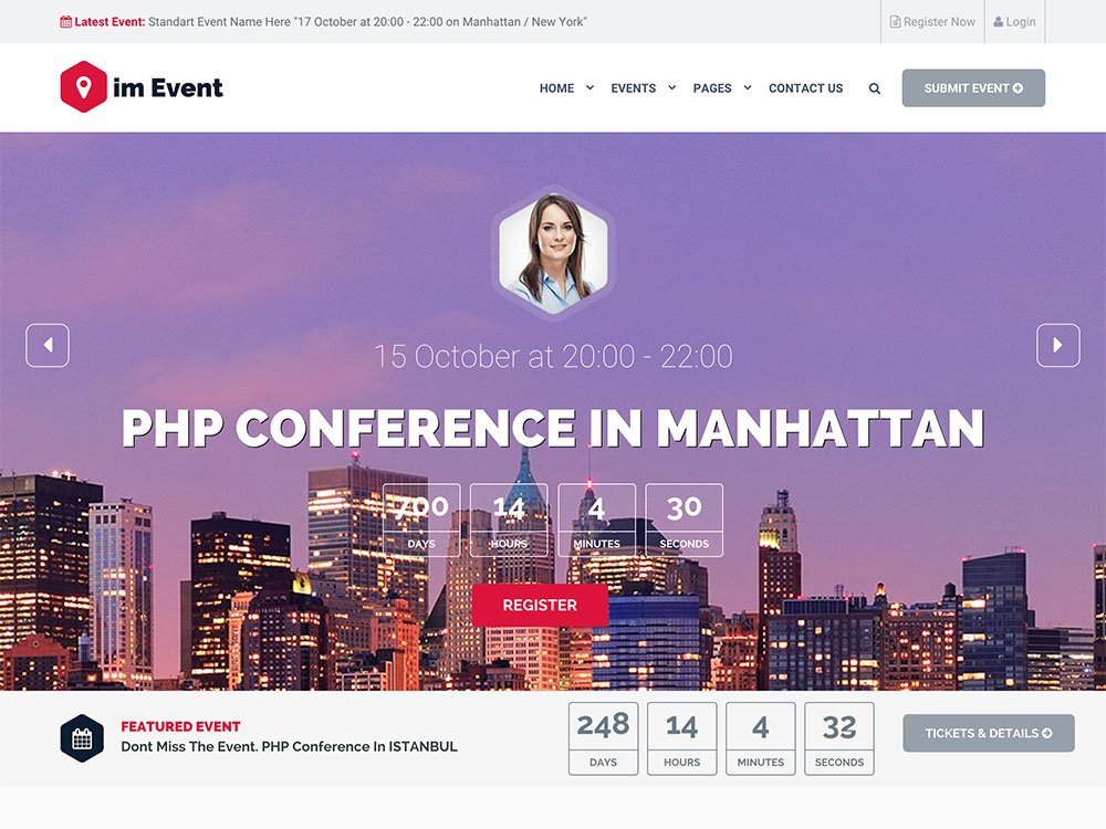 Event-Management - 41+ Top Awesome WordPress Themes For Events [year]