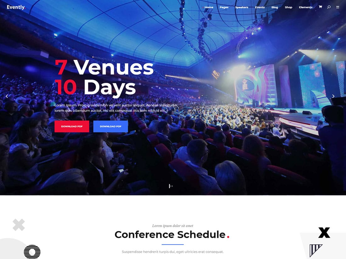 Evently - 41+ Top Awesome WordPress Themes For Events [year]