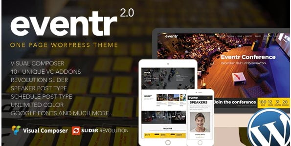 Eventr - 41+ Top Awesome WordPress Themes For Events [year]