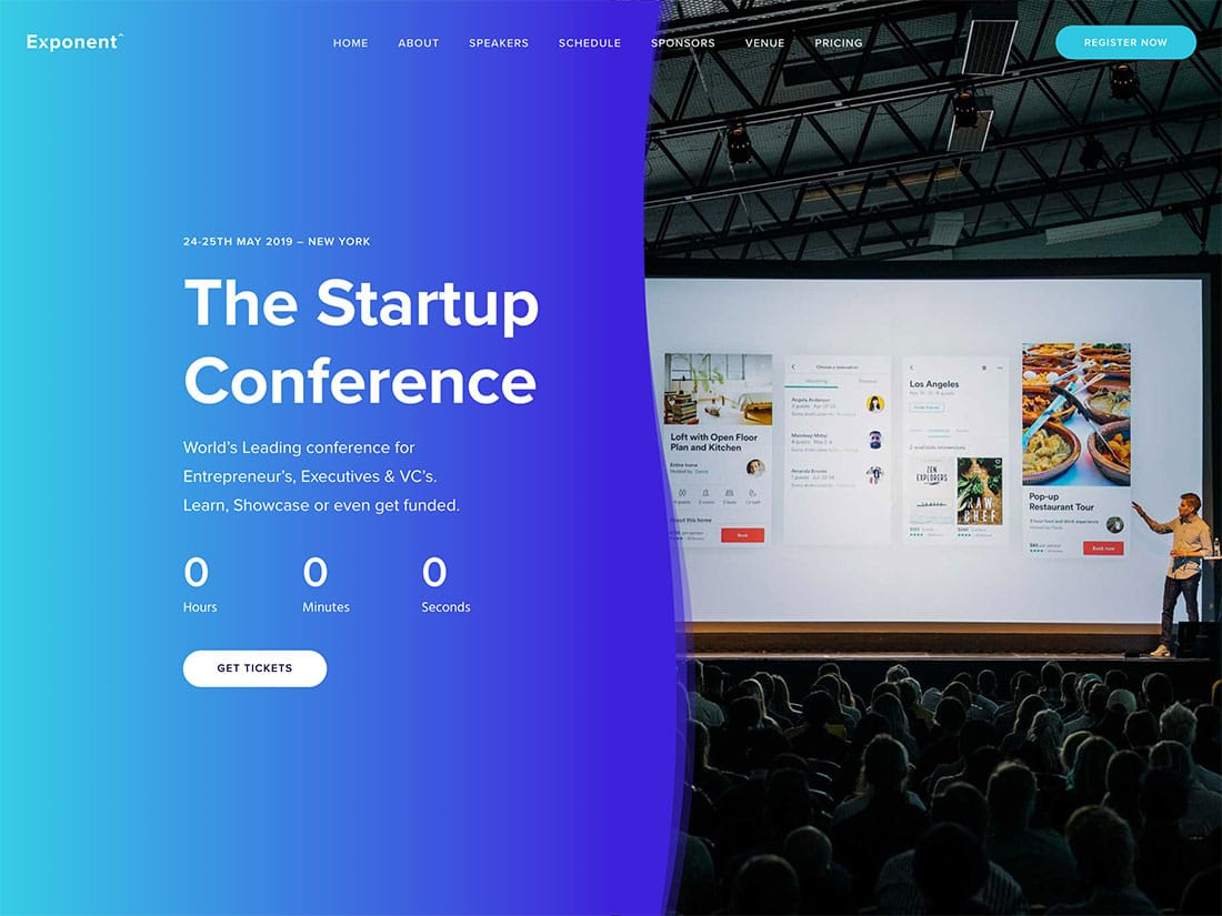 Exponent-1 - 41+ Top Awesome WordPress Themes For Events [year]