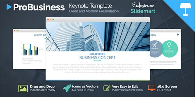 FREE-ProBusiness - 41+ Top Free Nice Apple Keynote Templates For You [year]