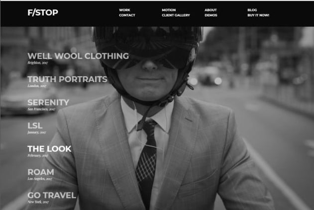 FStop - 26+ Nice WordPress Video Themes For Motion Designer [year]
