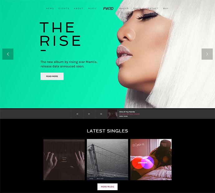 FWRD - 31+ Best Online Music Selling WordPress Themes [year]