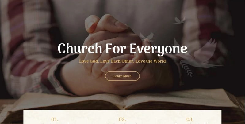 Faith-Hope - 31+ Inspiring Modern Church WordPress Themes [year]