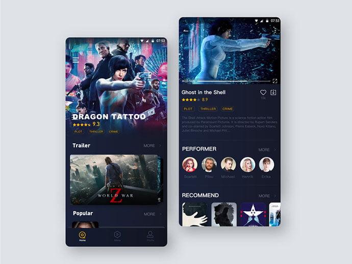 Film-Application-Design - 63+ Amazing Film & TV App UI Design Sample [year]