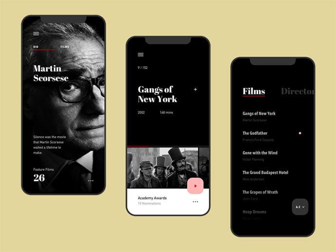 Film-Club-App - 63+ Amazing Film & TV App UI Design Sample [year]