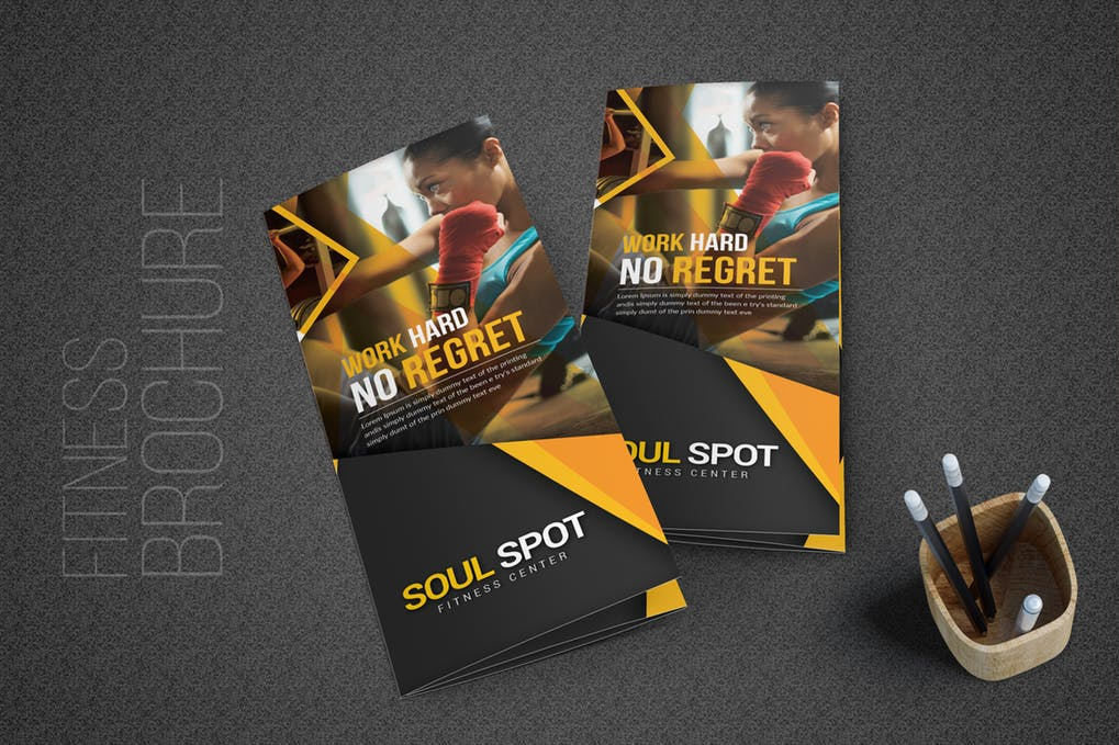 Fitness-Tri-Fold-Brochure - 46+ Photographer, Artist & Designer Business Card Templates [year]