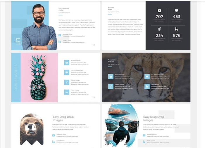 Five - 41+ Top Free Nice Apple Keynote Templates For You [year]