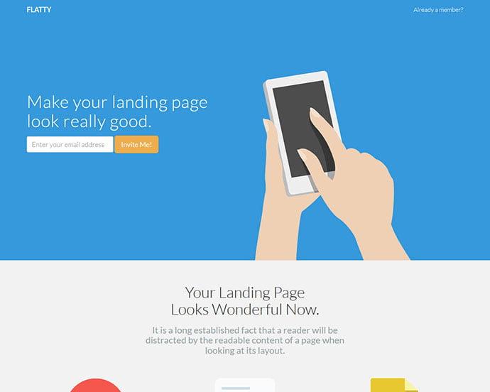 Flatty - 65+ Amazing Free CSS HTML5 Website Design Templates [year]