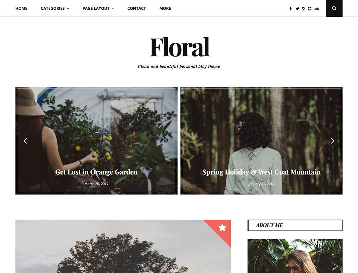 Floral - 43+ Top Free WordPress Blog Themes [year]