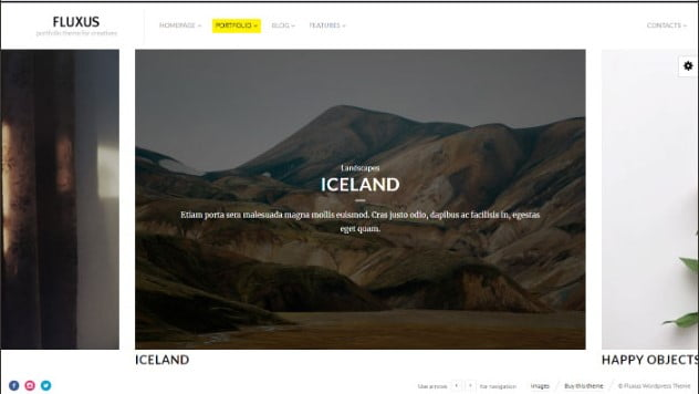 Fluxus - 31+ Top WordPress Themes For Landscape Photography Portfolio [year]