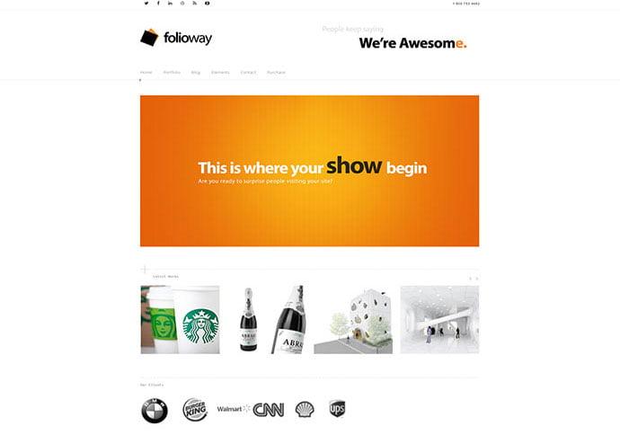 Folioway - 41+ Awesome Logo Designer WordPress Themes [year]