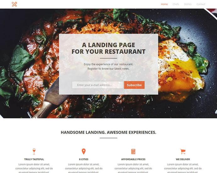 FoodLanding - 65+ Amazing Free CSS HTML5 Website Design Templates [year]