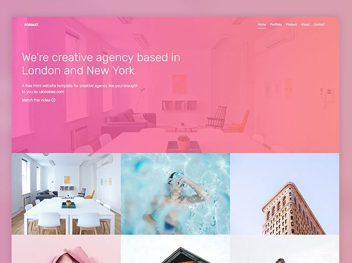 Format - 65+ Amazing Free CSS HTML5 Website Design Templates [year]