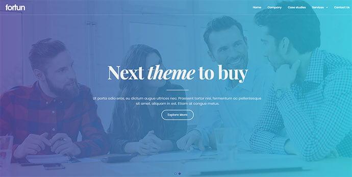 Fortun - 36+ Wonderful Gradients Designs WordPress Theme [year]