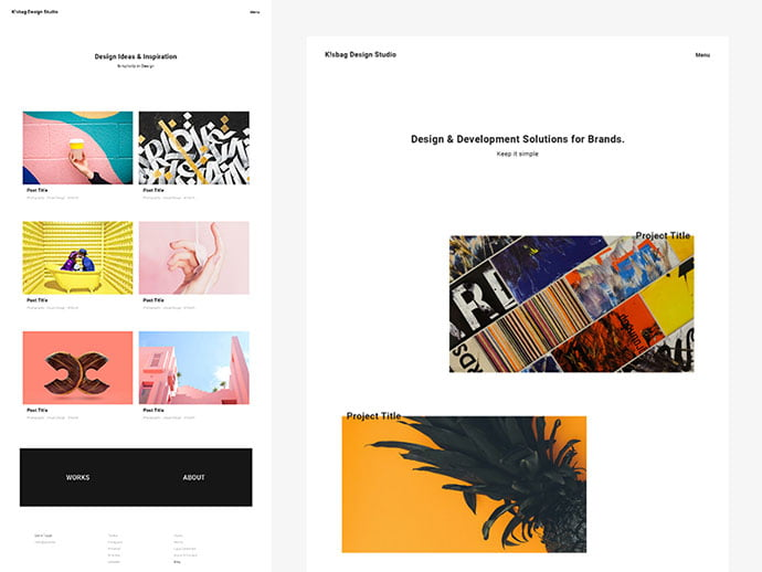 Free-Minimal-Portfolio-Website - 65+ Amazing Free CSS HTML5 Website Design Templates [year]