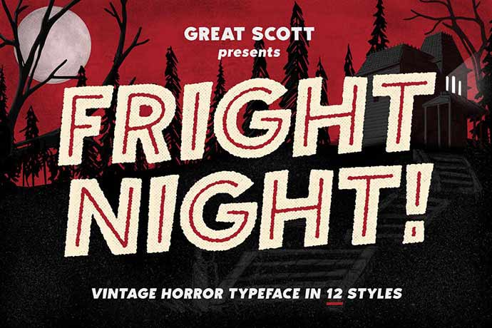 Fright-Night - 56+ Awesome Free Movie Poster Title Extra Bold Fonts [year]