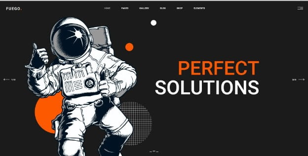 Fuego - 31+ Nice Game UI Designer Portfolio WordPress Themes [year]