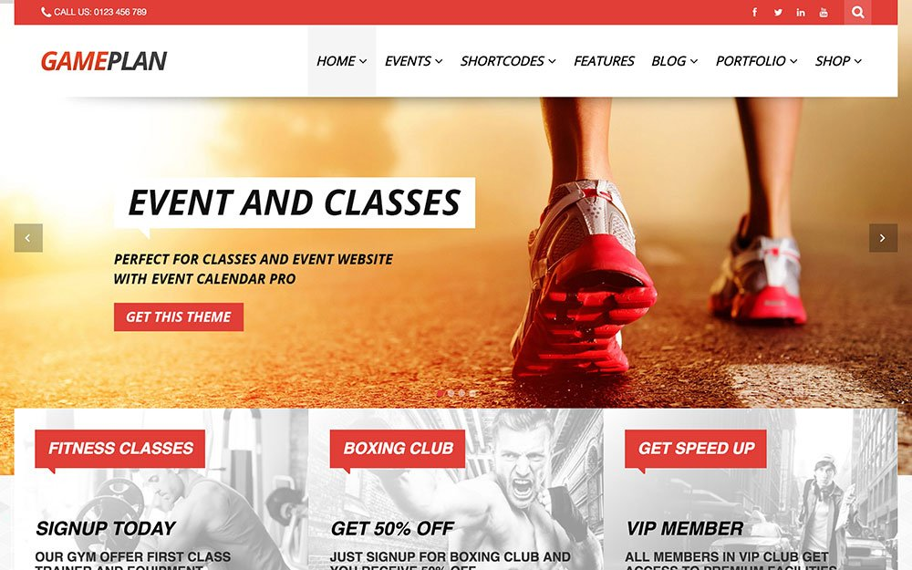 GamePlan - 41+ Top Awesome WordPress Themes For Events [year]
