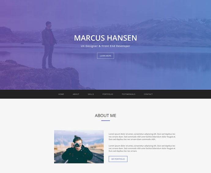 Geek - 65+ Amazing Free CSS HTML5 Website Design Templates [year]