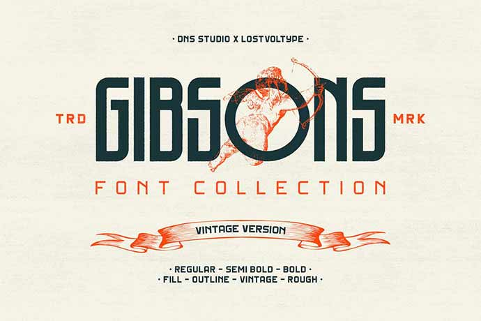 Gibsons-Vintage - 56+ Awesome Free Movie Poster Title Extra Bold Fonts [year]