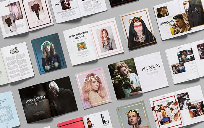 Gist - 63+ Surprising Typography In Magazine & Book Designs [year]