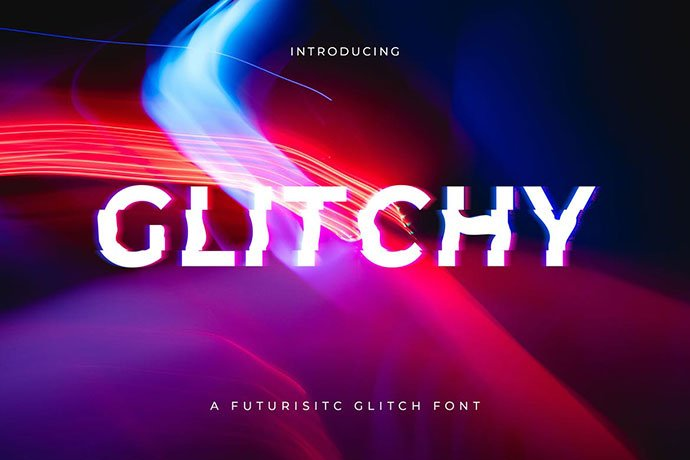 Glitchy - 32+ Honestly Impressive Distorted Fonts [year]