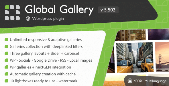 Global-Gallery - 28+ Awesome Gallery Plugins For WordPress [year]
