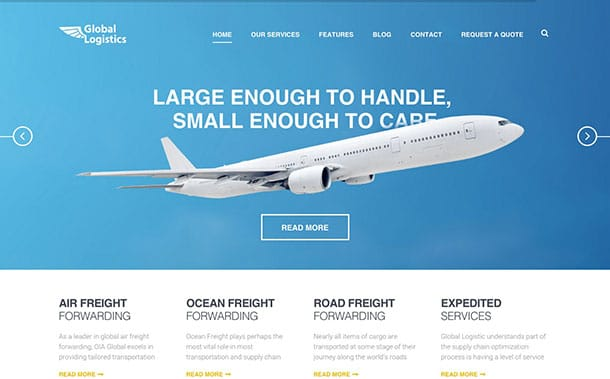 Global-Logistics - 36+ Stunning WordPress Themes For Transportation [year]