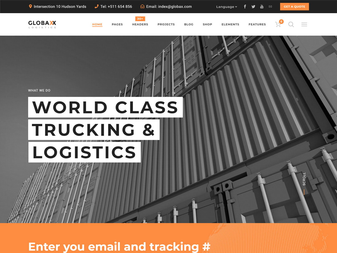 Globax - 36+ Stunning WordPress Themes For Transportation [year]