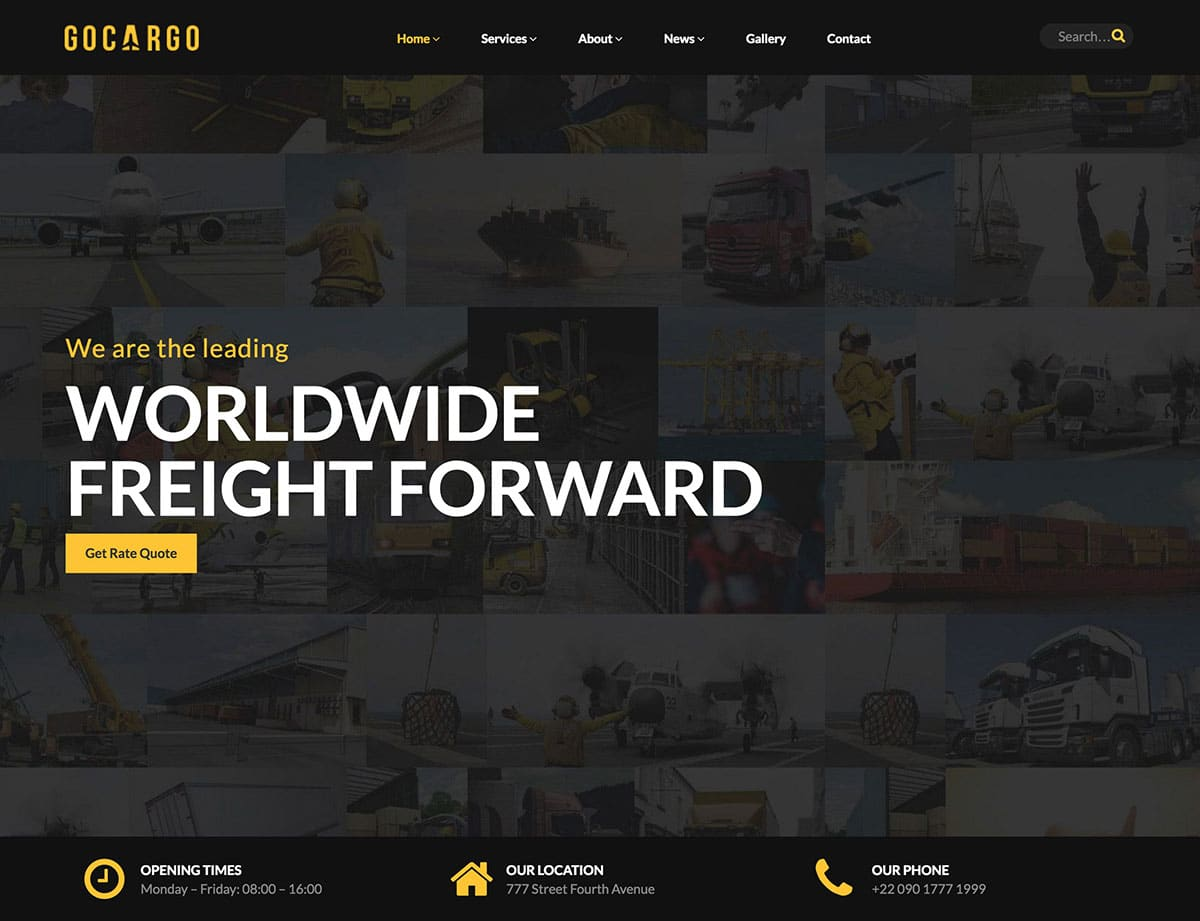 GoCargo - 36+ Stunning WordPress Themes For Transportation [year]