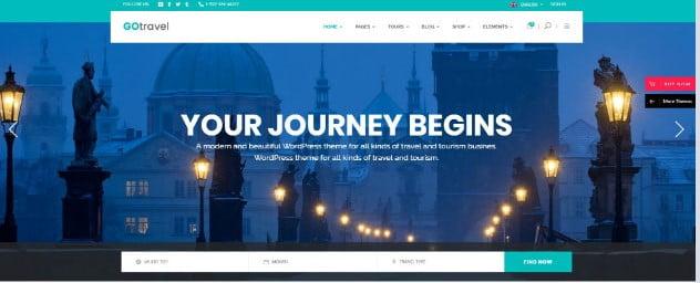 GoTravel - 36+ Nice Tour & Travel Business WordPress Themes [year]
