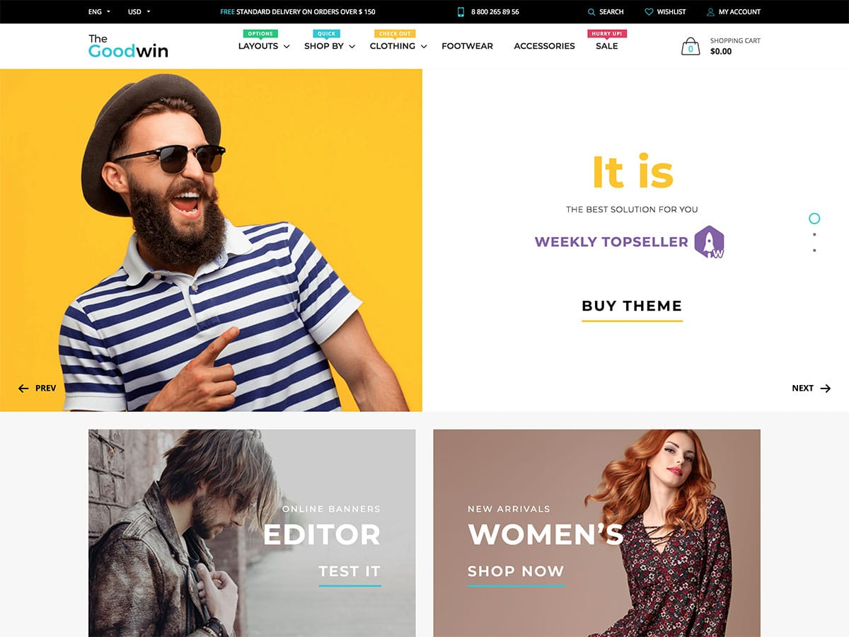 Goodwin - 41+ Awesome Shopify Themes For Your Business [year]