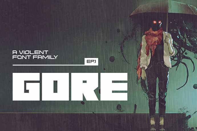 Gore-Regular - 56+ Awesome Free Movie Poster Title Extra Bold Fonts [year]