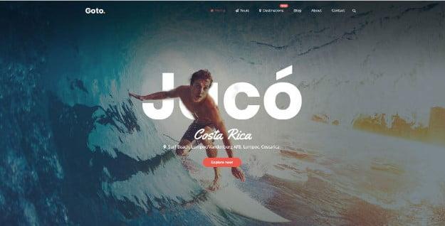 Goto - 36+ Nice Tour & Travel Business WordPress Themes [year]