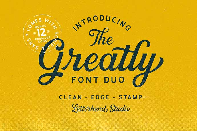 Greatly-Font-Duo - 41+ Important Logo Design Fonts For Graphic Designer [year]